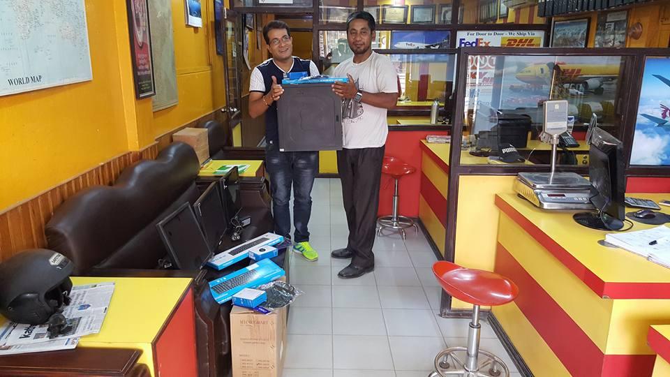 New York Cargo Pvt.Ltd. -- donated 3 set computer to SURYAMATI MA.BI., Dhadephedi, Belokot Gadi Nagarpalika -13, Nuwakot